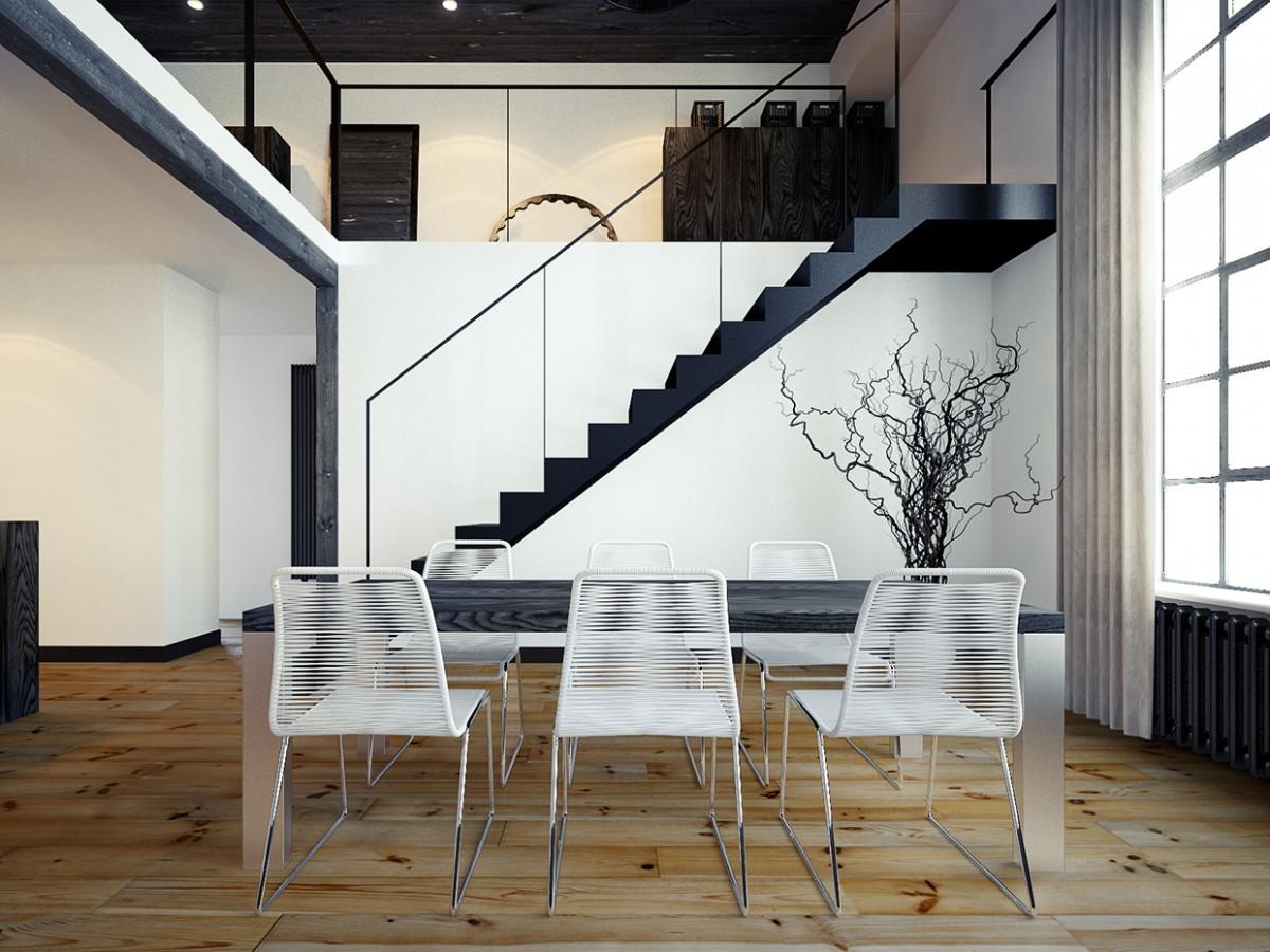 Deze loft is pure mannelijkheid Departamentos minimalistas