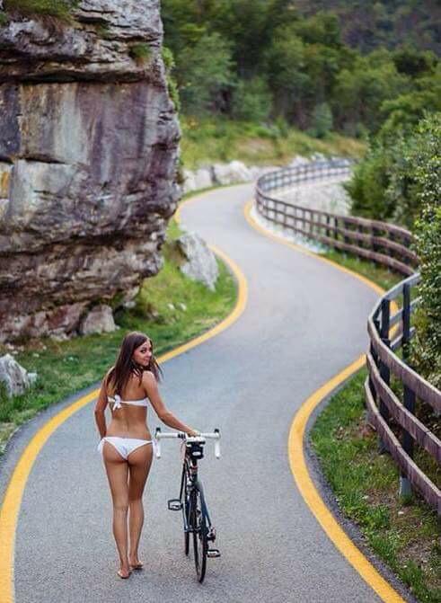 lekker vrouwen foto vrouwen fietsen