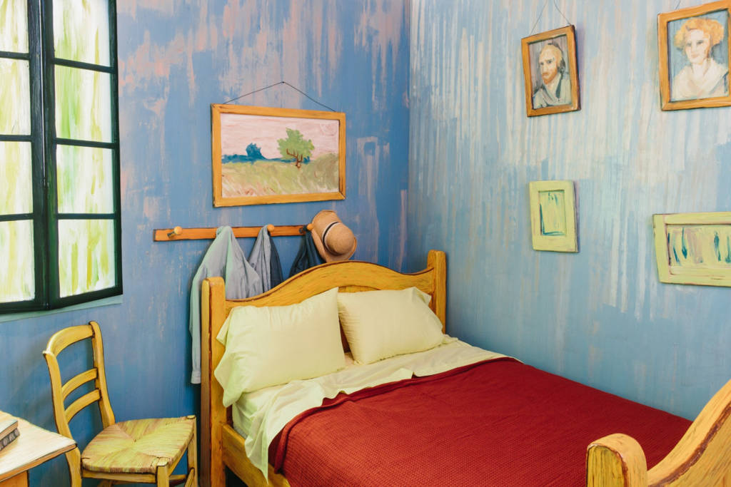 Van gogh schilderij 39 de slaapkamer 39 als slaapkamer op airbnb - Schilderij romantische kamer ...