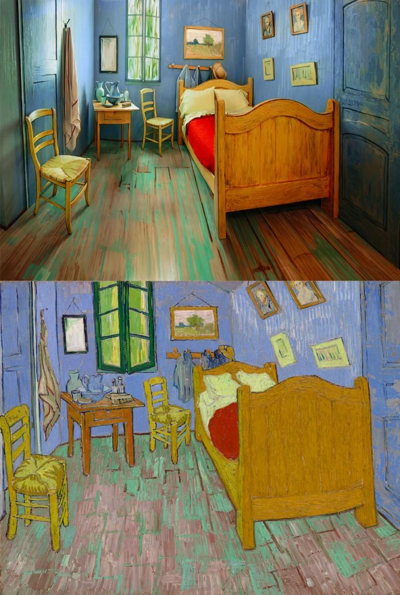 Van gogh schilderij 39 de slaapkamer 39 als slaapkamer op airbnb - Schilderij in de kamer ...