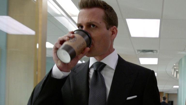 harvey specter coffee man man