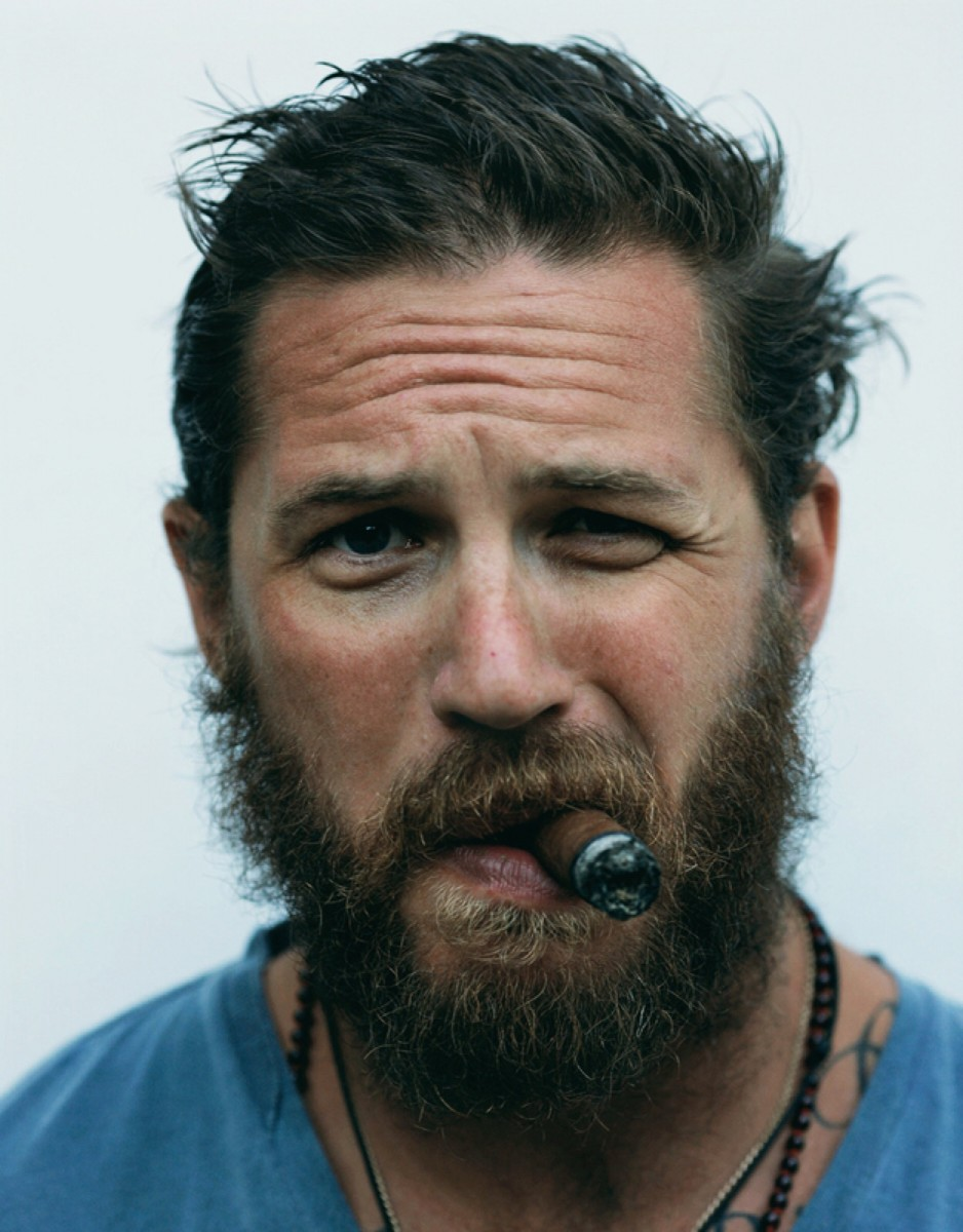 man man tom hardy baard