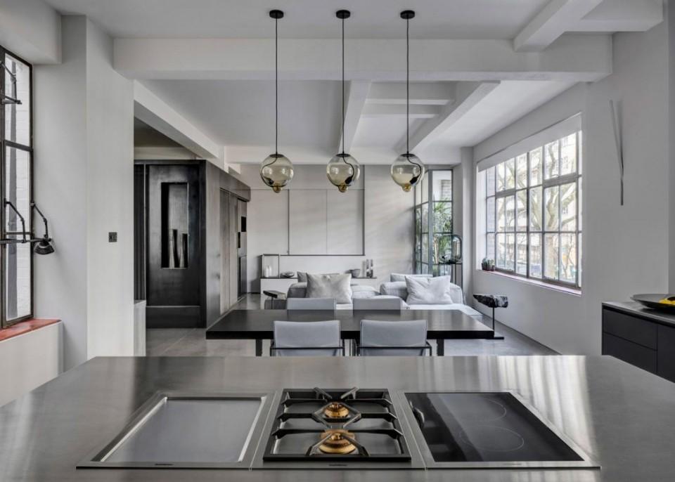 Londons Appartement Brengt Minimalisme En Industri 235 Le