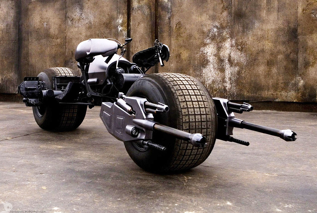 bat pod motorcycle man man