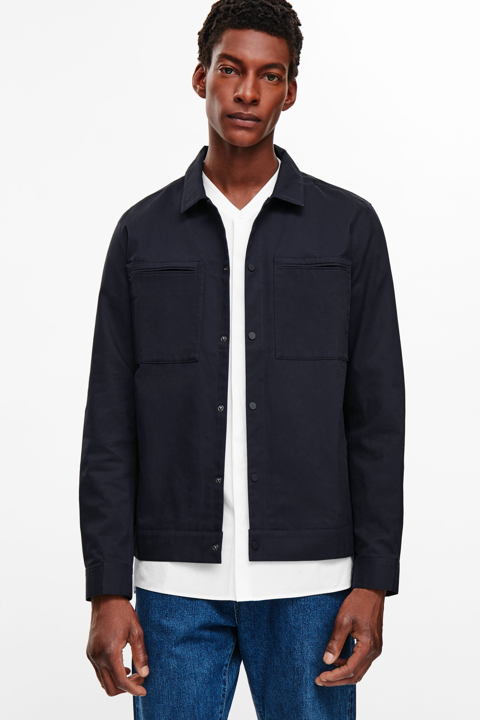 COS Military jacket jas blauw herfst MAN MAN