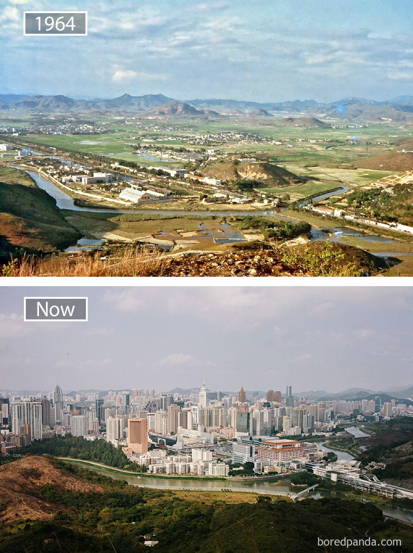 Wereldsteden groeien Shenzhen China MAN MAN