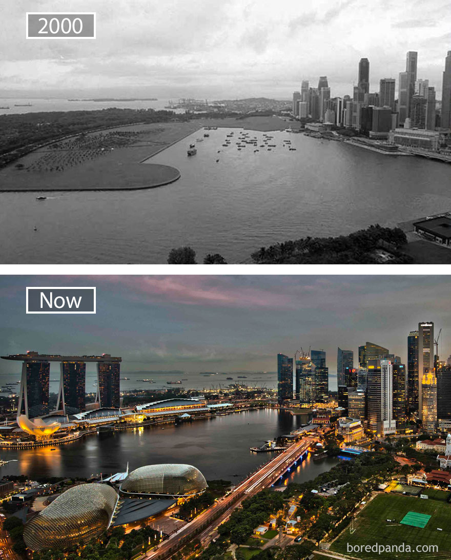 Wereldsteden groeien Singapora MAN MAN