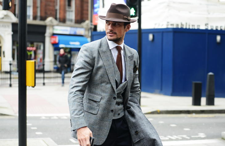 david gandy pak antraciet grijs MAN MAN