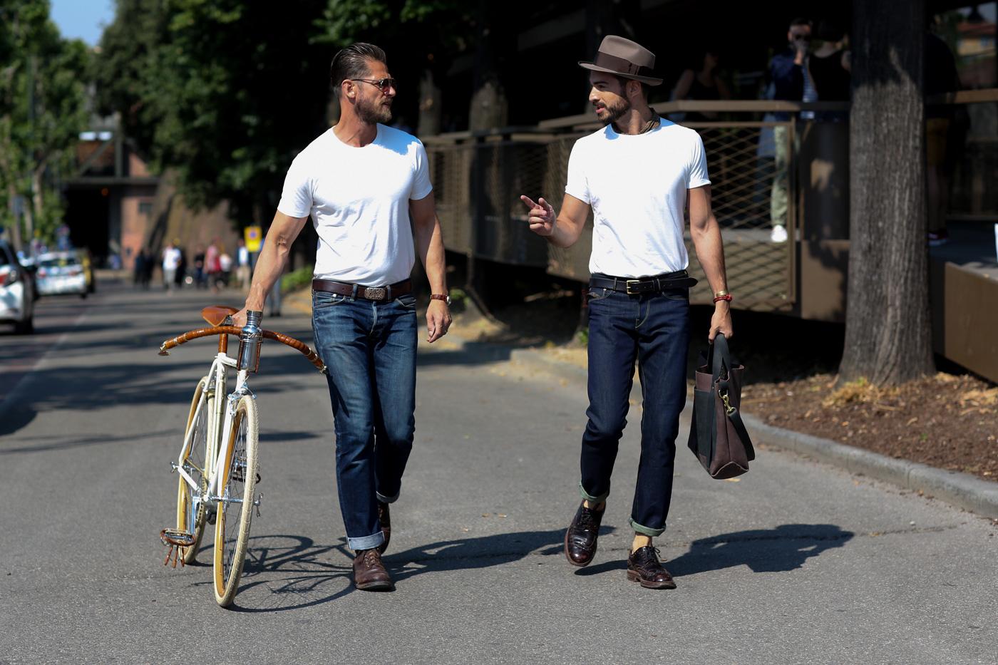 man man wit t-shirt 10 manieren stijlen
