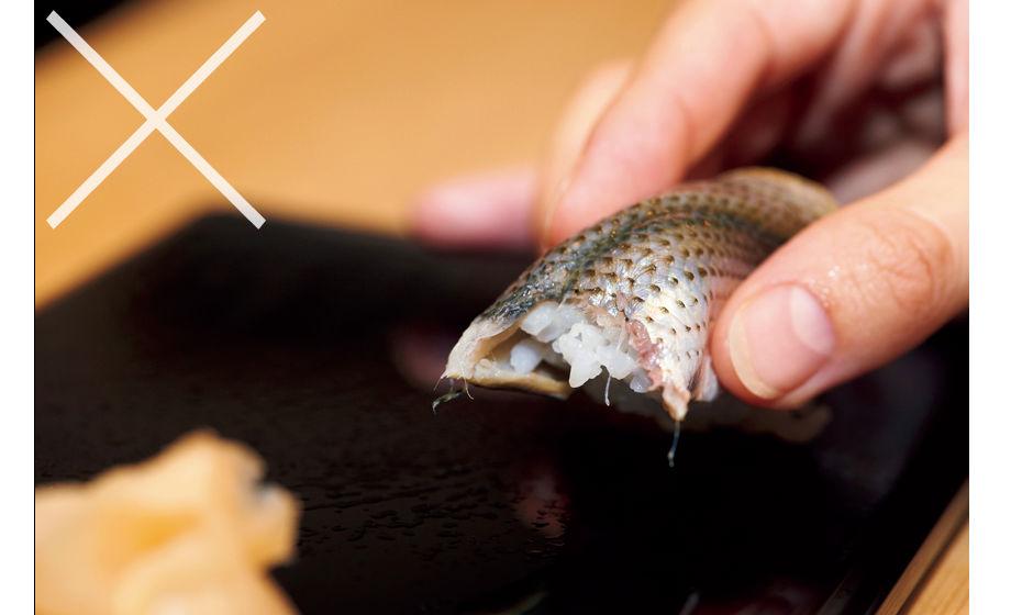 Dippen sushi restaurant tafelmanieren etiquette man man 3