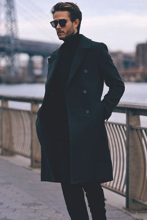 Black Long Sweater Coat
