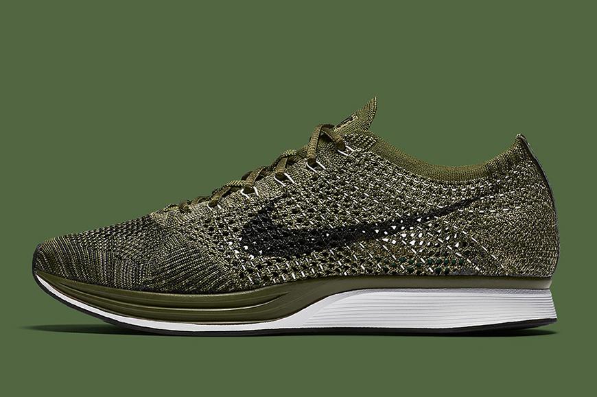 Nike flyknit racer rough green man man kleur sneaker schoenen 1