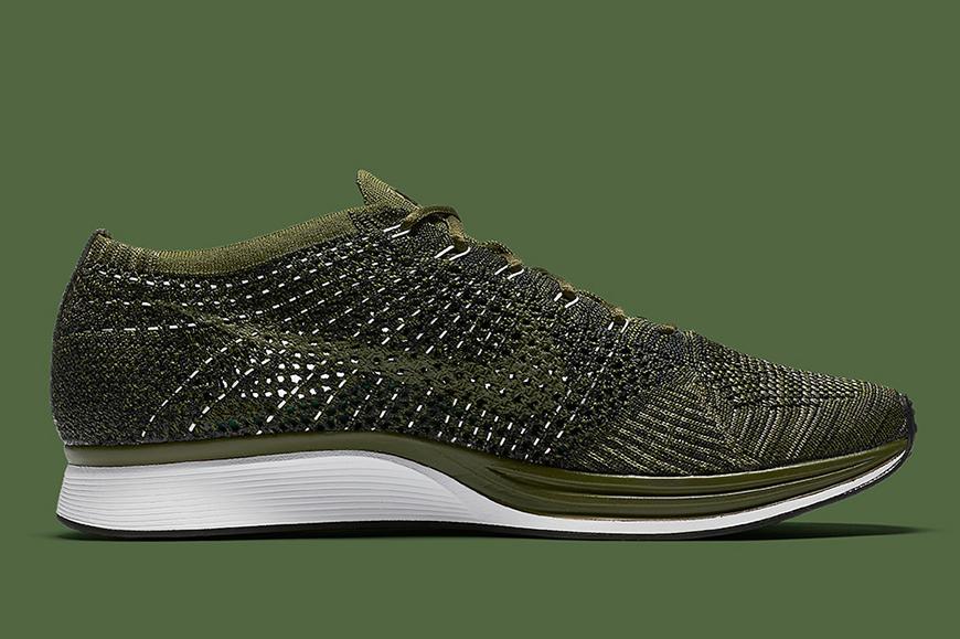 Nike flyknit racer rough green man man kleur sneaker schoenen 2