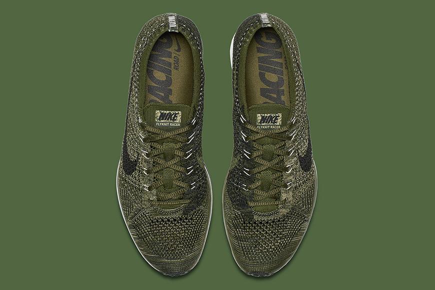 Nike flyknit racer rough green man man kleur sneaker schoenen 3