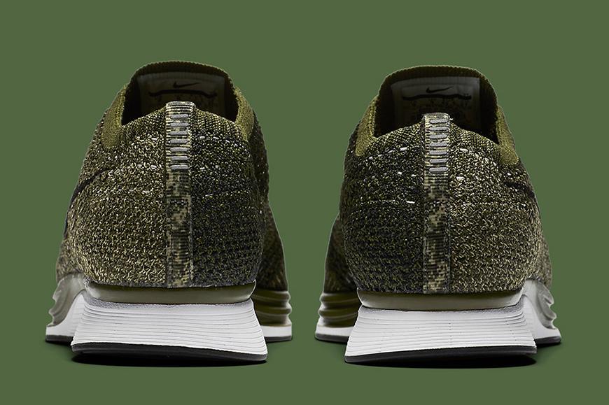 Nike flyknit racer rough green man man kleur sneaker schoenen 4