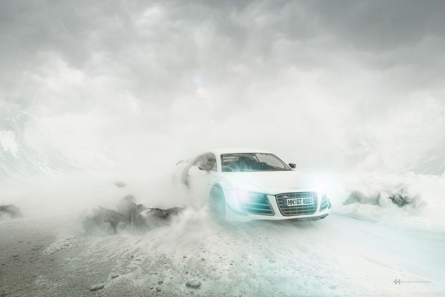 Audi R8 autofabrikant automerk Felix Hernandez fotograaf MAN MAN