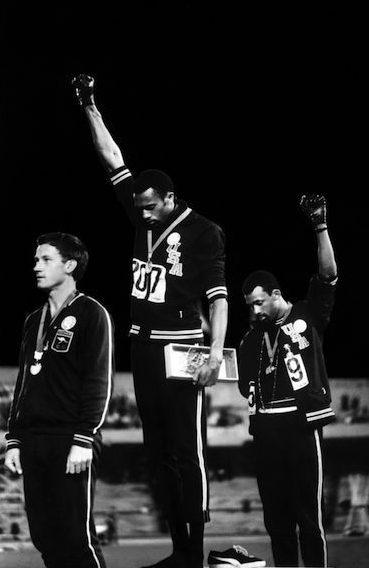 Black power salute-John DOminis-MAN MAN