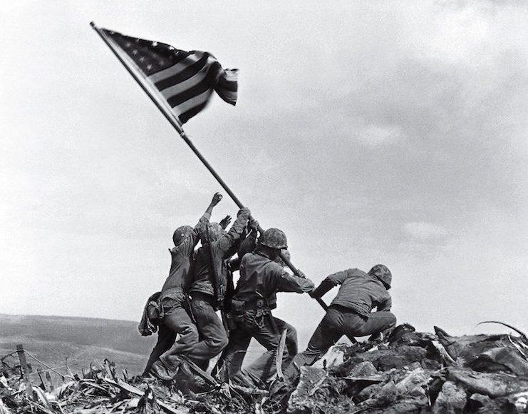 Flag raising on Uwo Jima-meest iconische foto's-MAN MAN