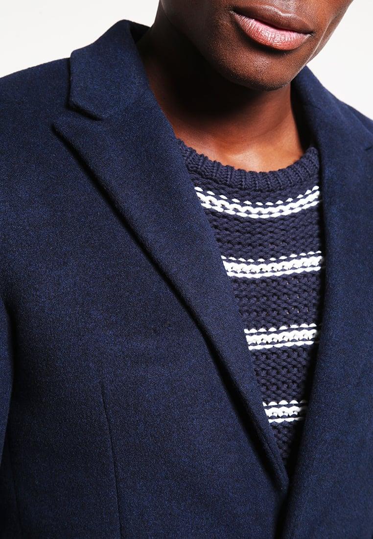 blauwe heren jas