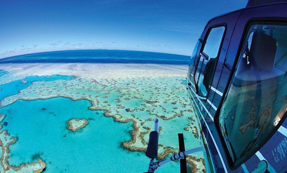 groot koraal rif helikopter queensland man man