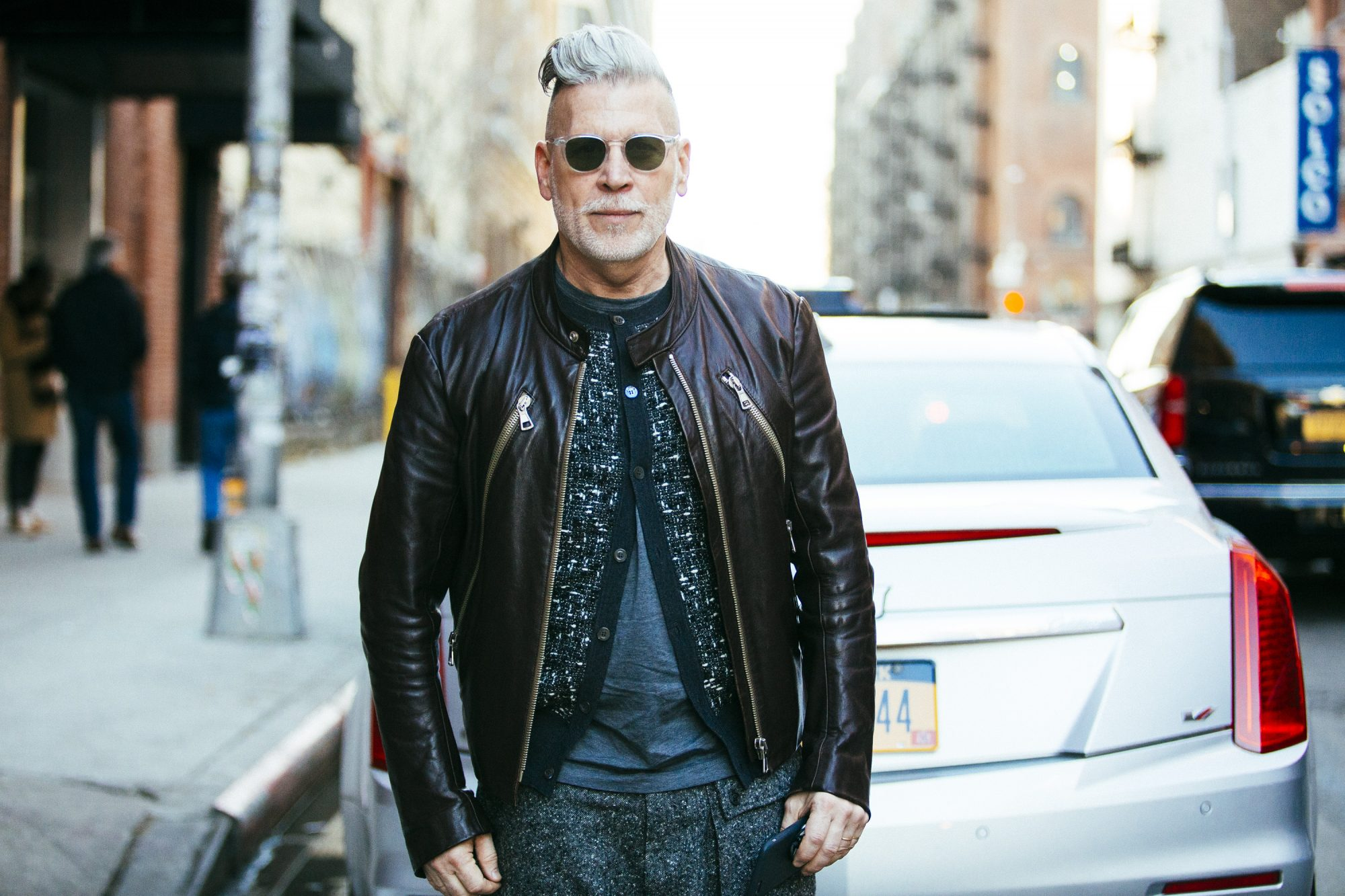 Leather jacket MAN MAN