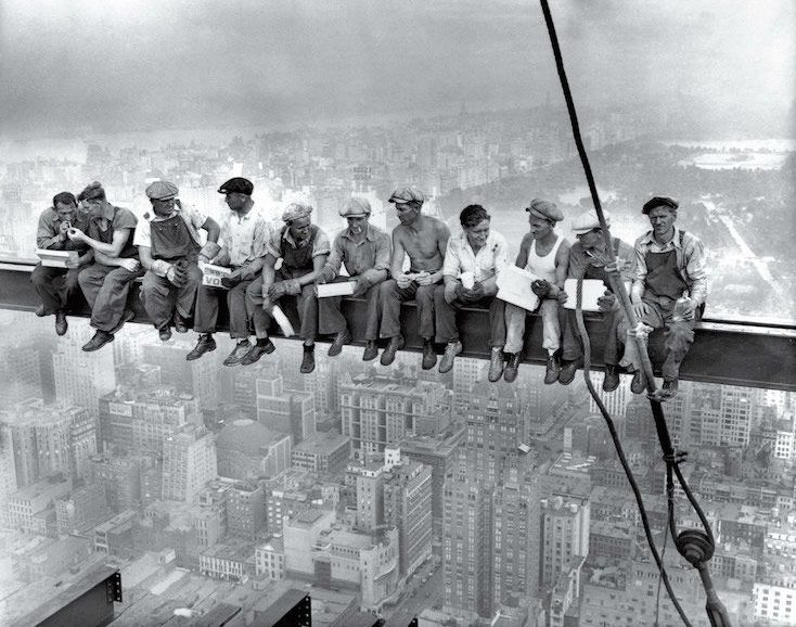lunch atop a skyscraper-meest iconische foto's -MAN MAN