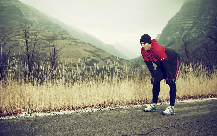 trainen winter harlopen-heren-workout-rode jas-hardloop schoenen-MAN MAN