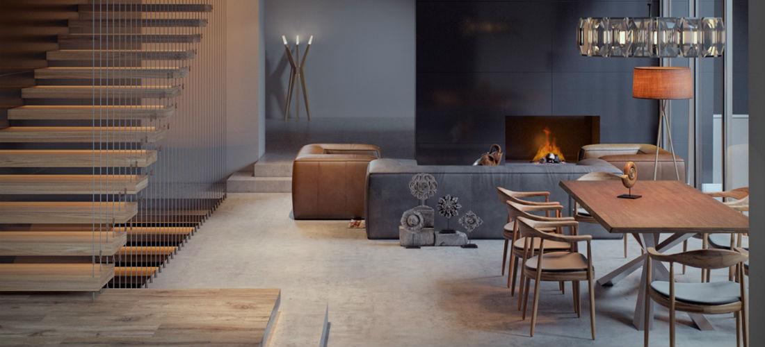 Geef je woning een stijlvolle upgrade met een mat zwarte muur man man - Zwarte muur in de woonkamer ...