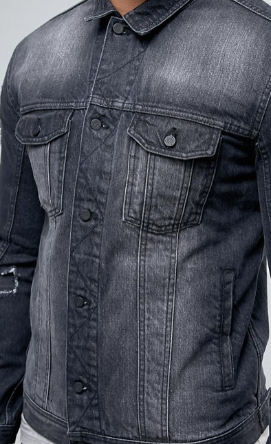 Maak je garderobe compleet met een denim jacket man man for Garderobe jacke