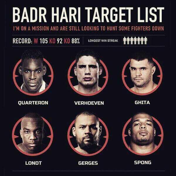 badr hari target list rematch rico verhoeven