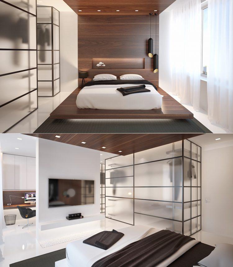 Inspiratie slaapkamers met stijlvolle garderobes man man for Inrichting slaapkamer