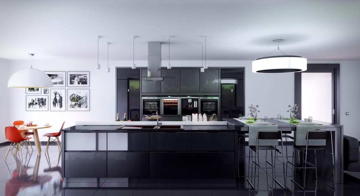 Keuken Zwart Stoere : Een zwarte keuken stoer mannelijk en bijzonder stijlvol man man