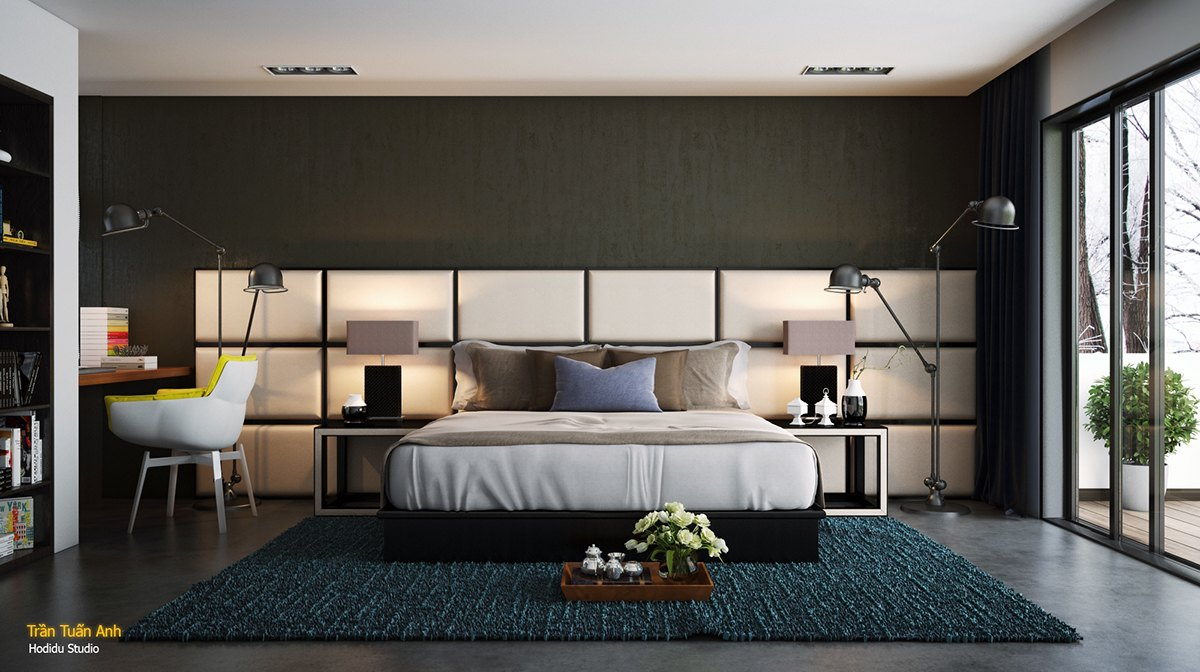 slaapkamer bed inspiratie interieur man man