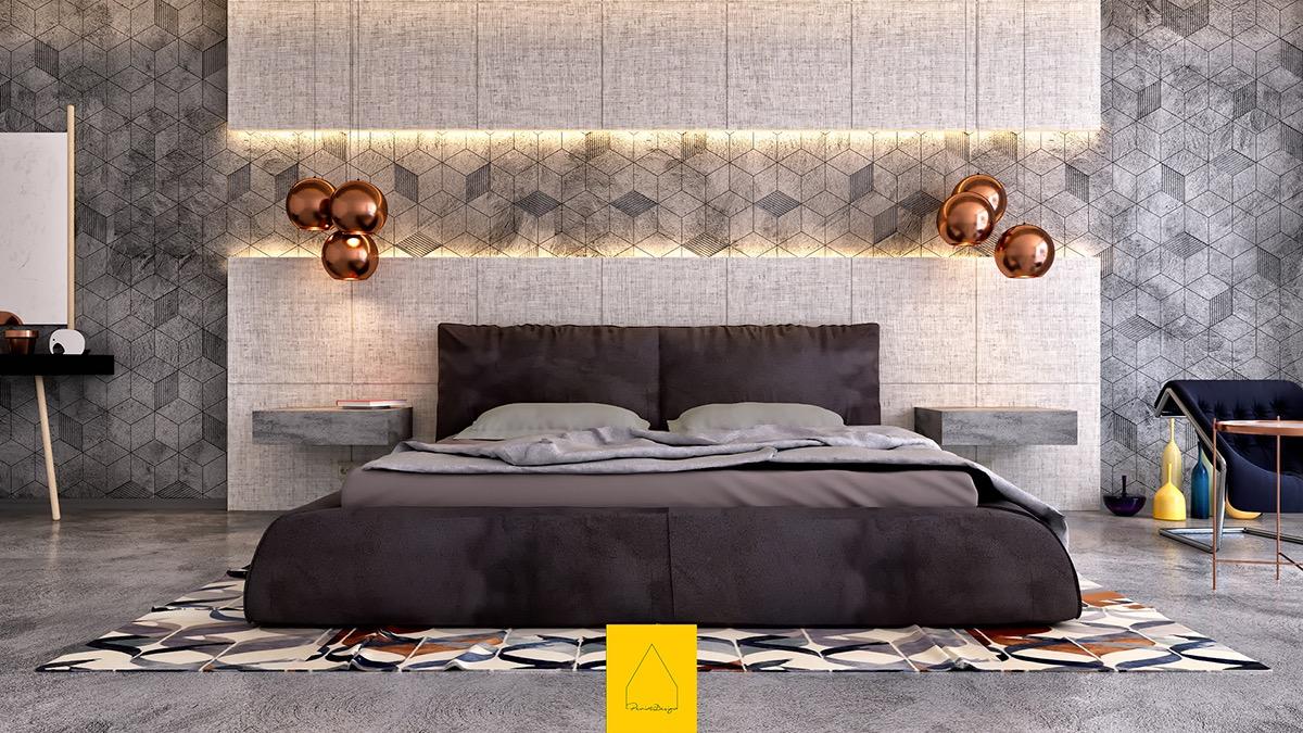 Inspiratie: 4 unieke slaapkamers met geweldige details aan de muur ...