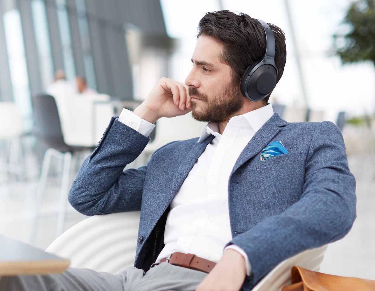 sony headphones man man