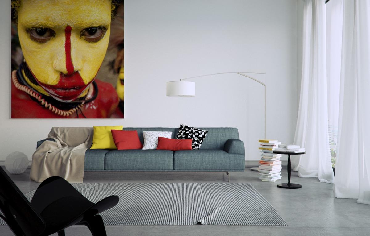 Inspiratie Grote Schilderijen En Kunst Zijn De Ultieme Upgrades Voor Je Woonkamer Man Man