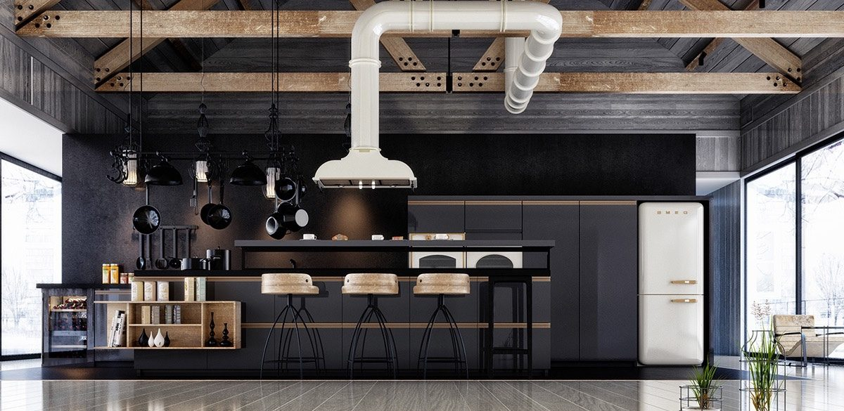 Kitchen Cabinets With Grey Floors