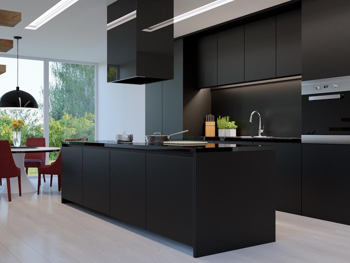 Zwart Keuken Stoere : Zwarte design keuken u2013 informatie over de keuken