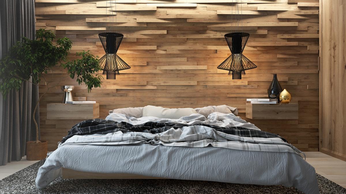 Houten Wandpanelen Slaapkamer : Houten wand achter het bed is de upgrade voor je slaapkamer man man