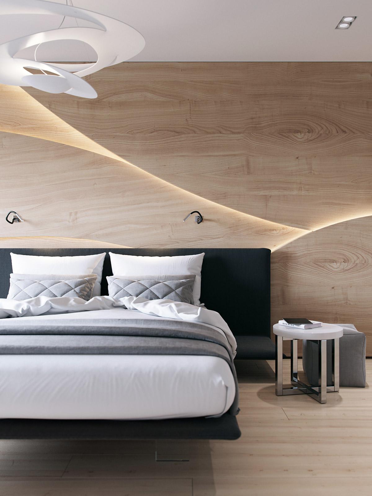 Houten Wand Achter Het Bed Is De Upgrade Voor Je