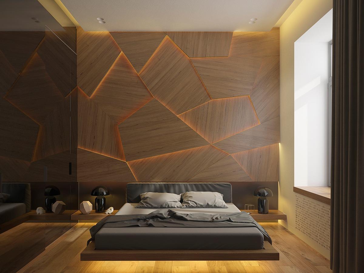 houten wand achter het bed is de upgrade voor je slaapkamer  man man, Meubels Ideeën