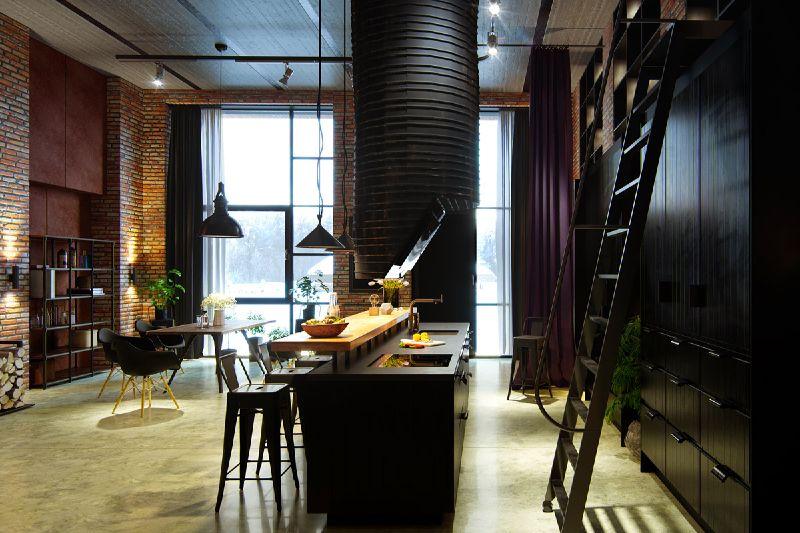 Geef je huis een mannelijke look met deze industriële keukens ...