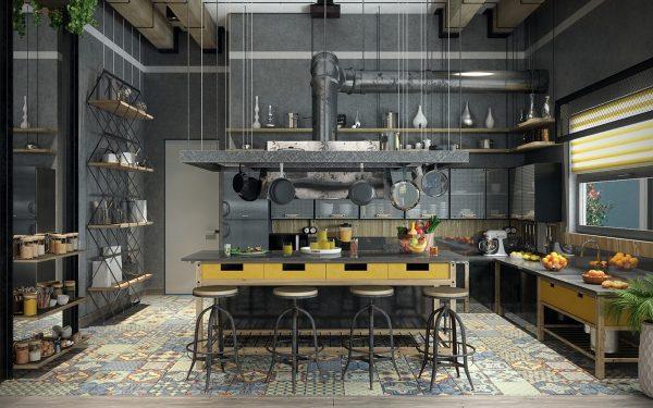 Keuken industrieel affordable with keuken industrieel industrile