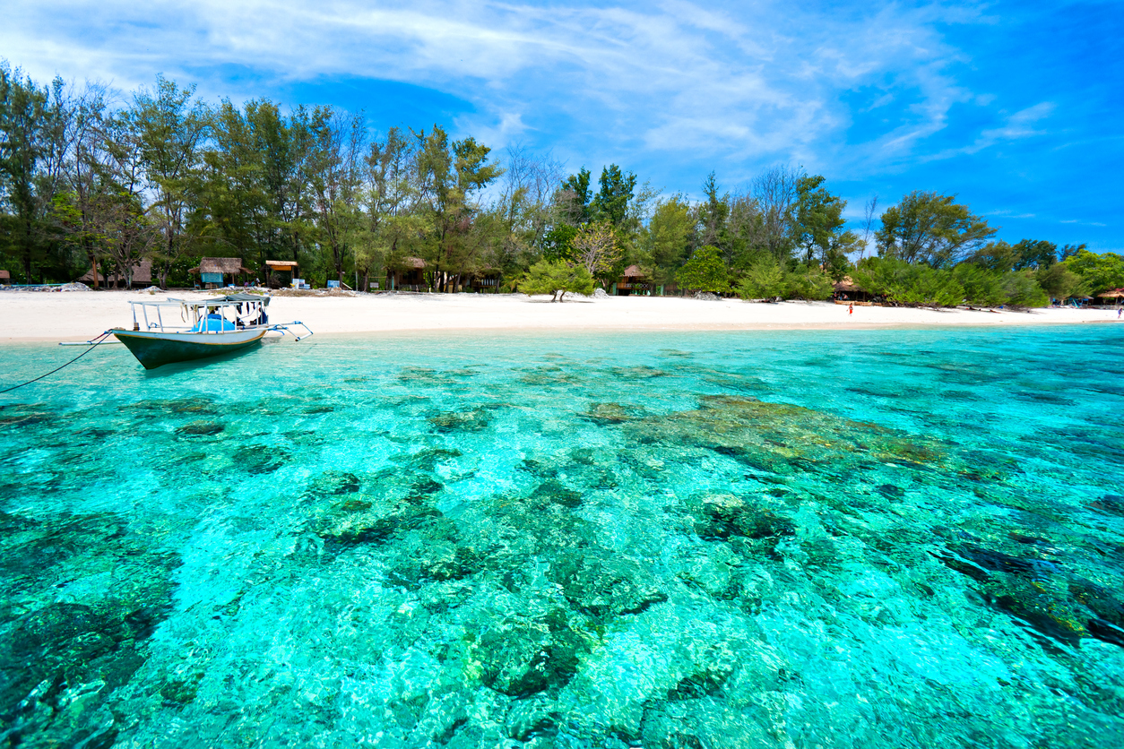 Beautiful turquoise sea of Gili Meno, Indonesia