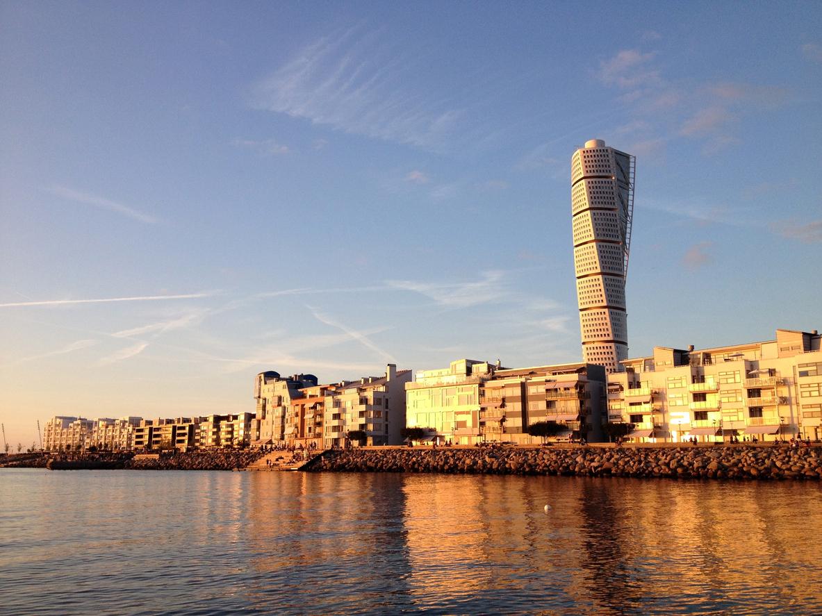 Vastra Hamnen at sunset