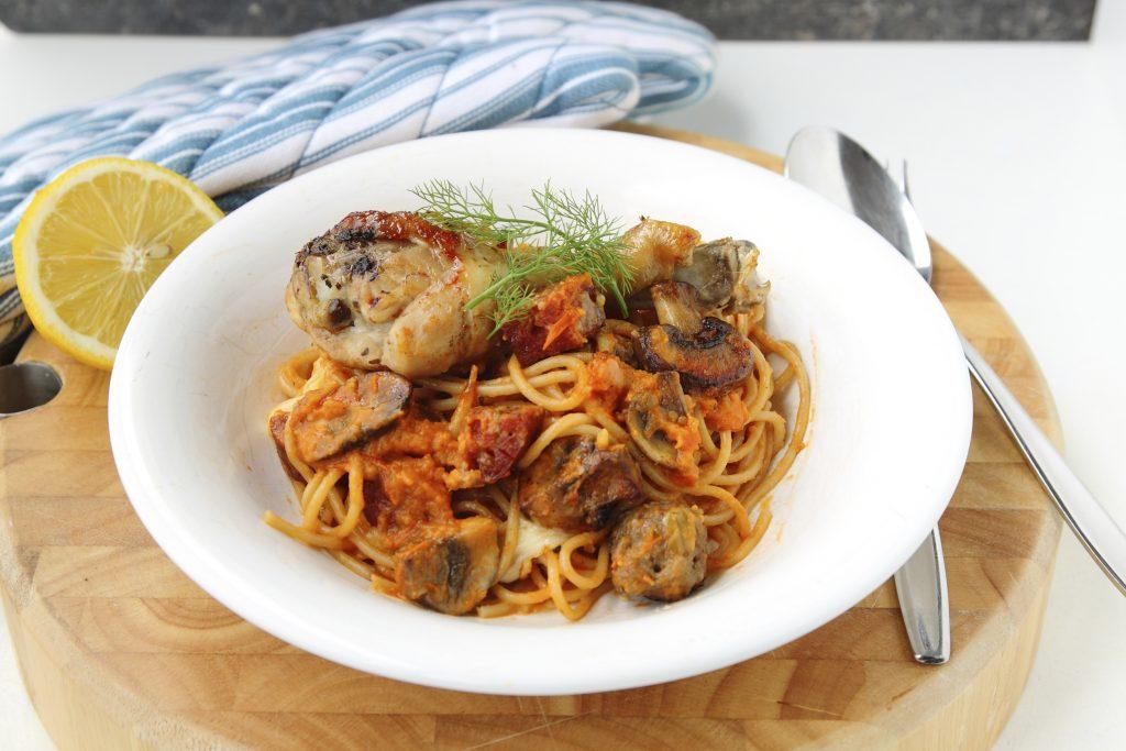 Spaghetti met drie vlees1