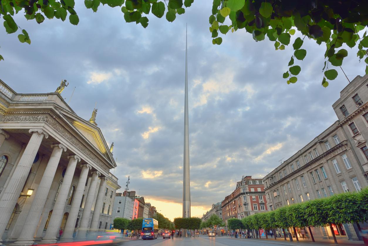 Spire in Dublin, Ireland