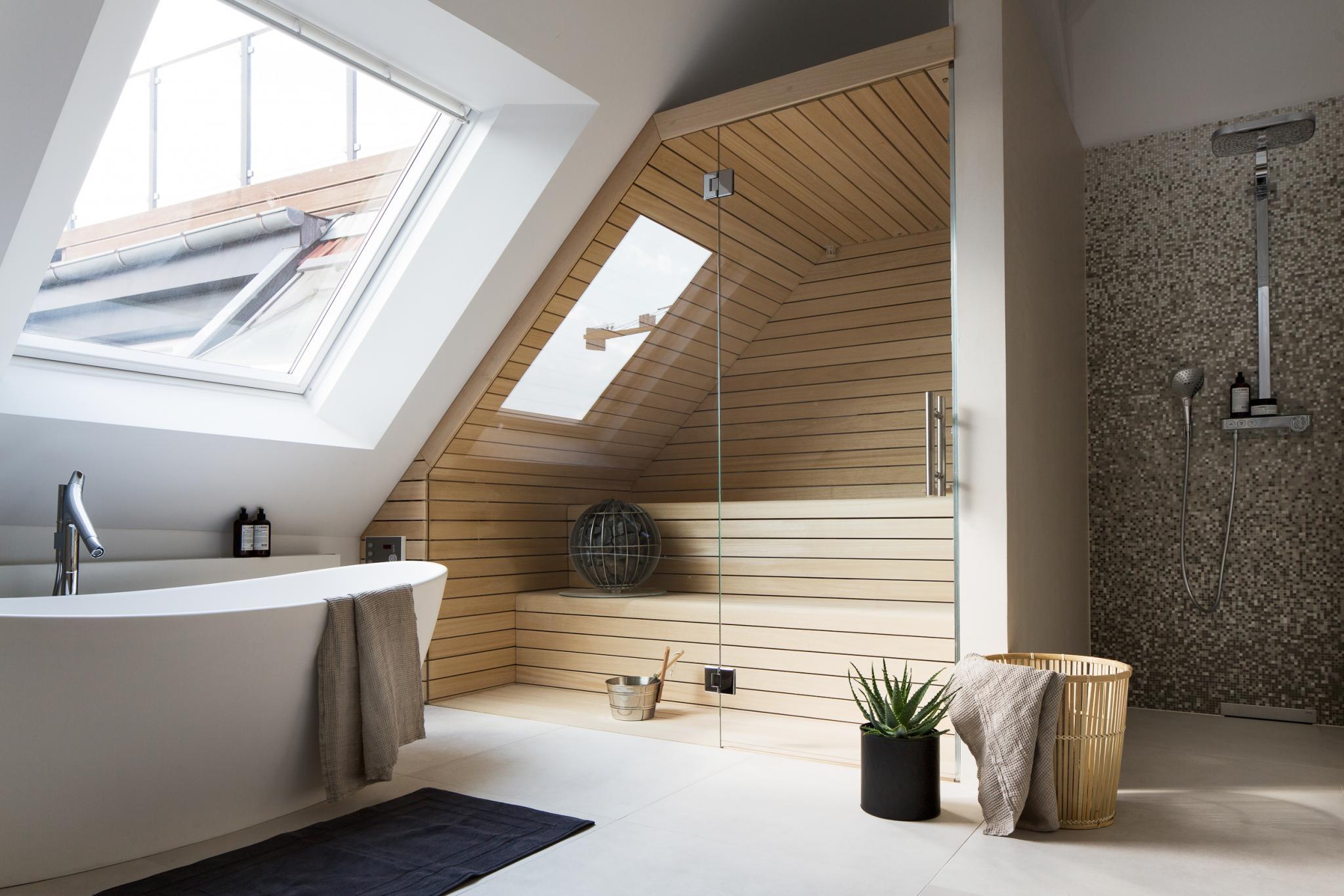 Beautiful Badkamer Met Sauna Ideas - Moderne huis - clientstat.us