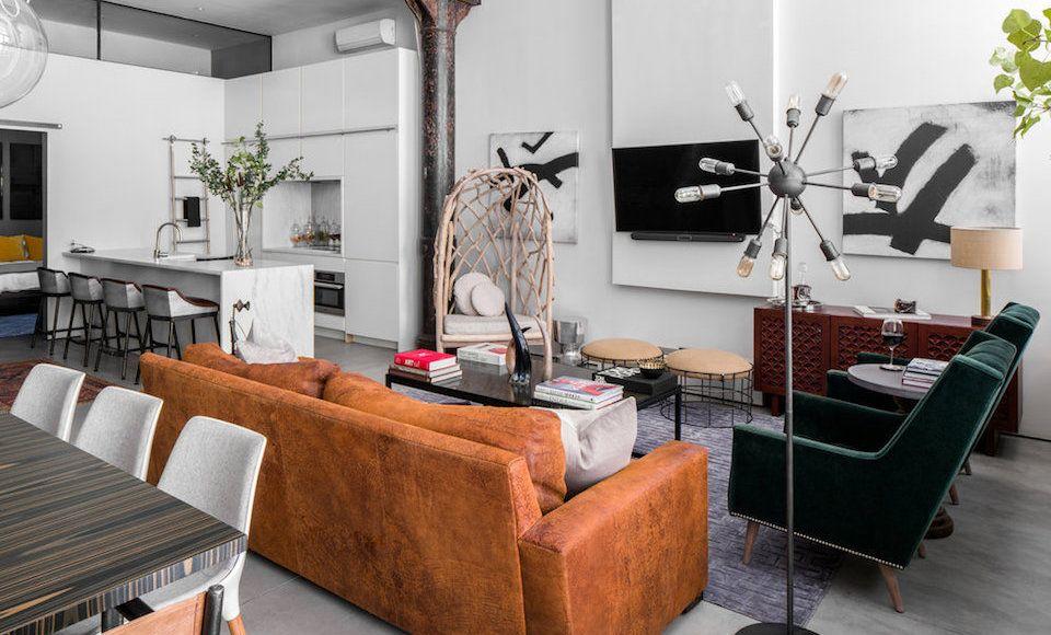 Het interieur van deze luxe loft is de droom van iedere for Interieur loft new york