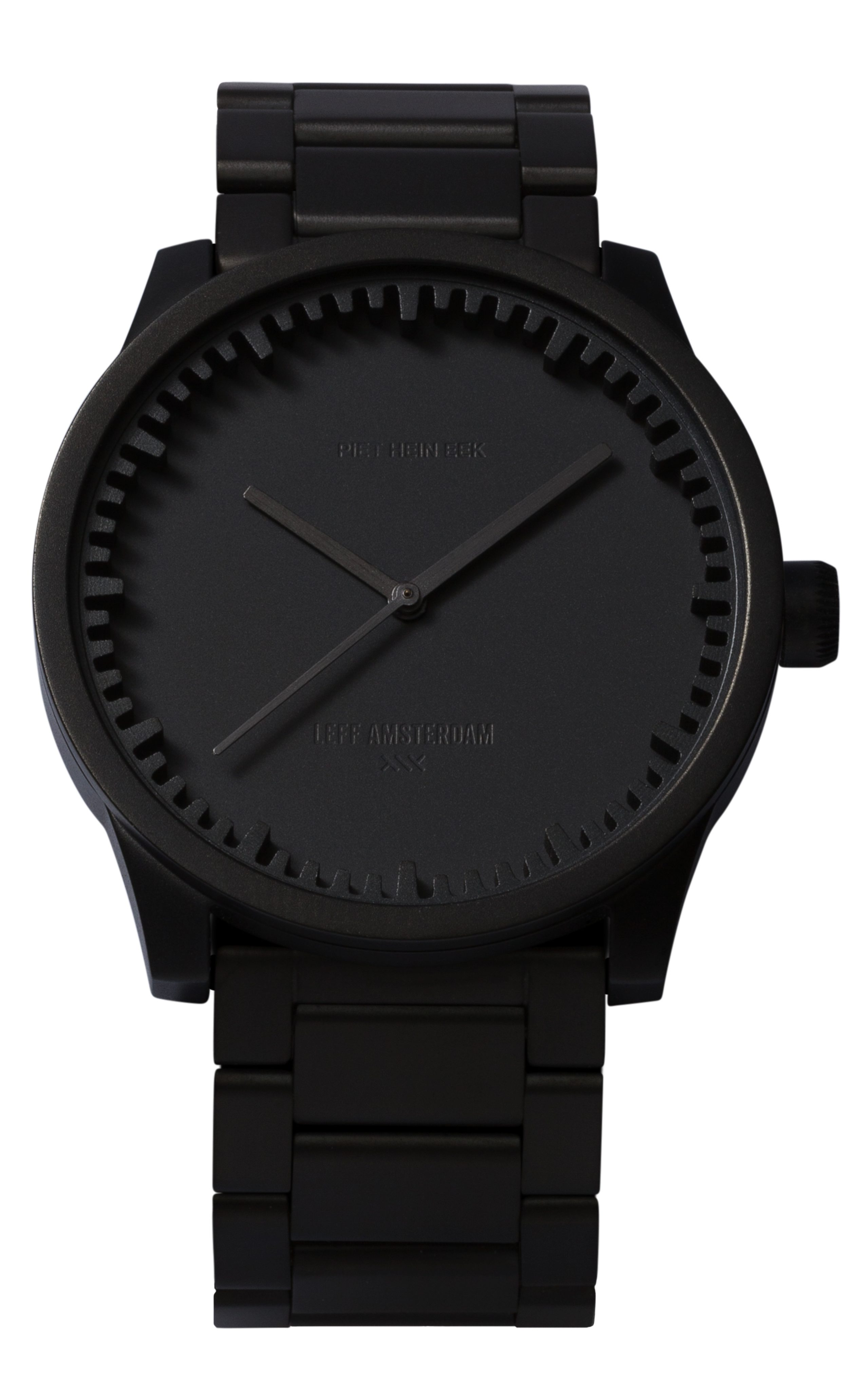 1) S42 black tube watch leff amsterdam design by piet hein eek